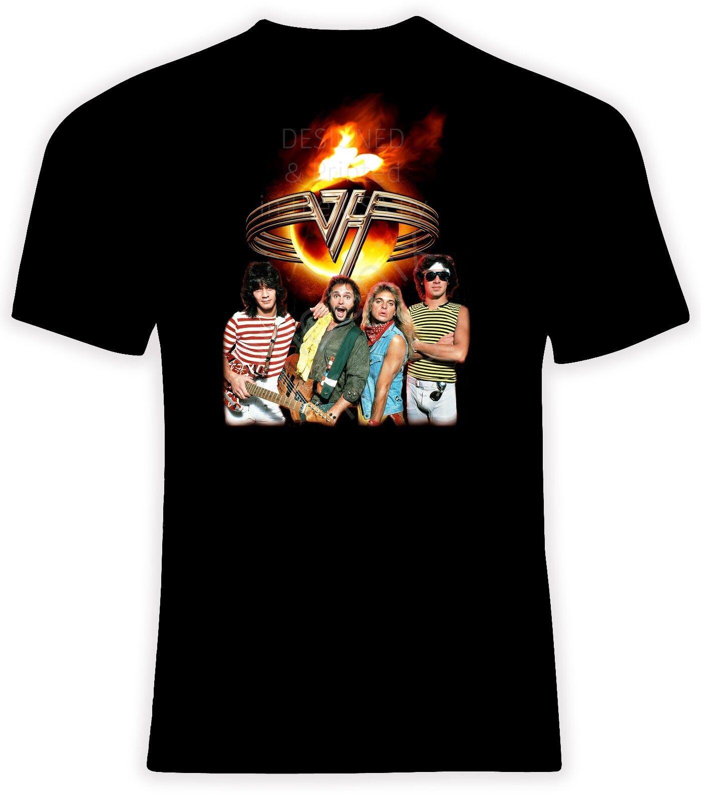 Van Halen with David Lee Roth T shirt, Größes S-6X, Short or Long Sleeve