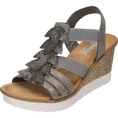 61943 90 Ladies multi coloured sandals