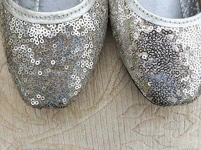 Señoras plata indio Boda Fiesta de vuelta menos Slipper Khussa zapatos talla 7