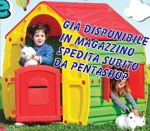 Casetta da giardino in resina termo plastica per gioco for Casetta in plastica per bambini usata
