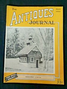 Antiques-Journal-1950-Majolica-Ansonia-Clock-Nissedahle-Queen-039-s-Mary-Doll-House