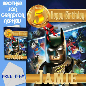 lego angry birds personalised A5 birthday card son brother nephew grandson name