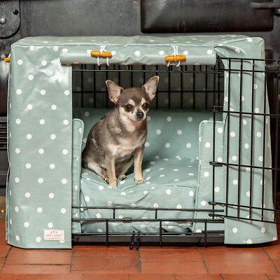 Lord & Labrador Duck Egg Spot In Tela Cerata Dog Crate Copertina-mostra Il Titolo Originale