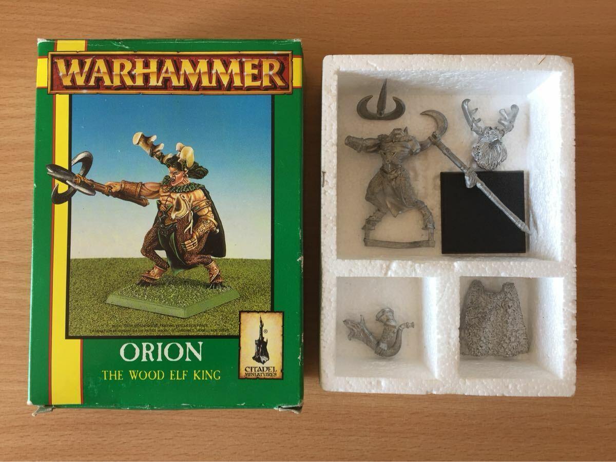 GW 1996 Warhammer Fantasy Orion Wood Elf Rey Metal En Caja Nuevo-Rápido Post
