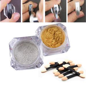 2*Mirror Powder Glitter Puder Nagel Pulver 8*Lidschatten Bu00fcrste Deko | EBay