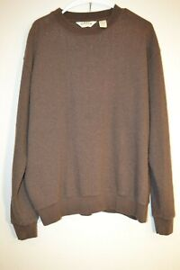 Orvis-Mens-Pullover-Long-Sleeve-Crew-Neck-Sweater-Size-Large-Brown