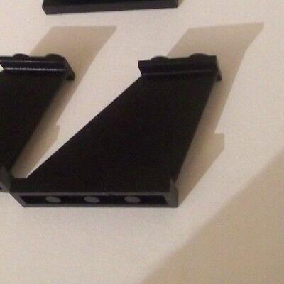 2340 TAIL 4 x 1 x 3 LEGO PR41 BLACK x 4