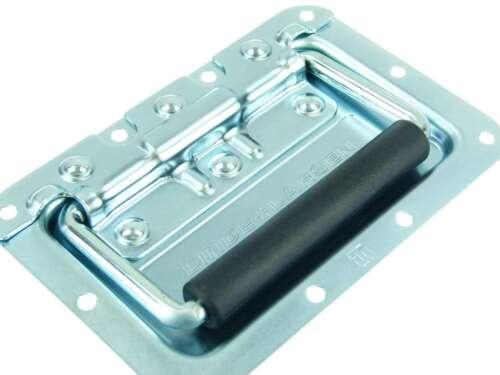 8 x Adam Hall 34082LL Klappgriff mittel gefedert 8 mm Einbauschale Boxengriff