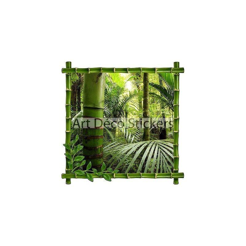 Adhesivo de Parot Decoración Trampantojo Trampantojo Bosque Bambúes Ref