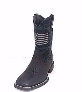 19b91371bcf0b MEN'S ARIAT SPORT PATRIOT BLACK CAMO PRINT WESTERN BOOTS 10023361   eBay