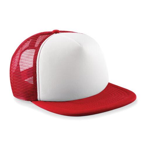 Junior Vintage Snapback Trucker Beechfield B645B Kids padded cap with mesh rear