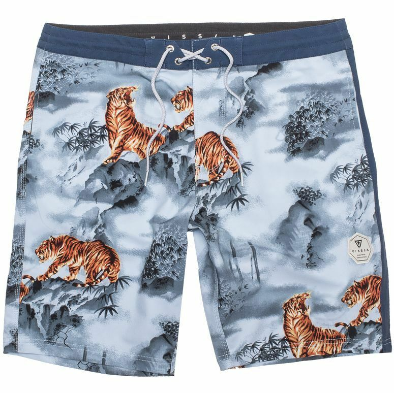 VISSLA Men's MYSTY MOUNTAIN Board Shorts - LTB - Size 34 - CRAZY LOOKING SHORTS