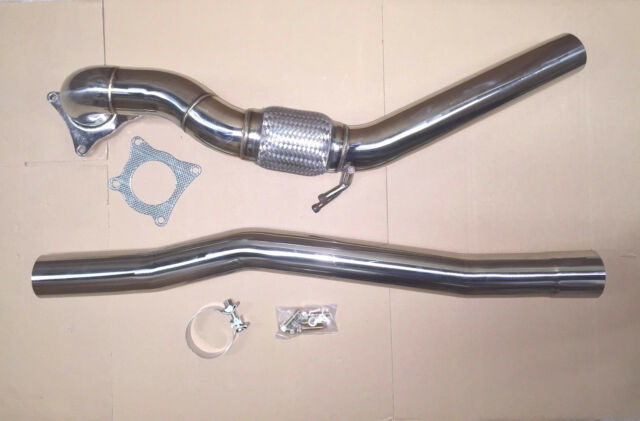 "Downpipe Audi A3 S3 8P 2.0 TFSI Quattro  3"" exhaust system decat pipe"