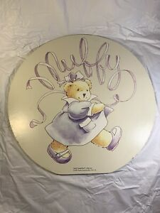 Rare-Vintage-Muffy-Vanderbear-Collection-Wooden-Sign-1995