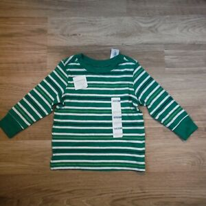 Boys-Old-navy-Green-tee-shirt-Striped-size-12-18-months-Mix-and-match-New-tags