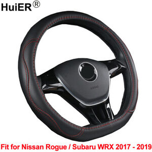 Auto-Car-Steering-Wheel-Cover-D-Shape-For-Nissan-Rogue-Subaru-WRX-2017-2019