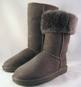 genuine ugg classic tall suede boots grey new 9 uk 7 5 ebay rh ebay com