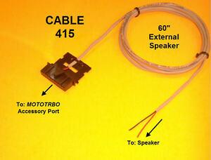 Cable-415-External-Speaker-Motorola-MOTOTRBO-XPR4300-XPR4350-XPR4500-XPR4550