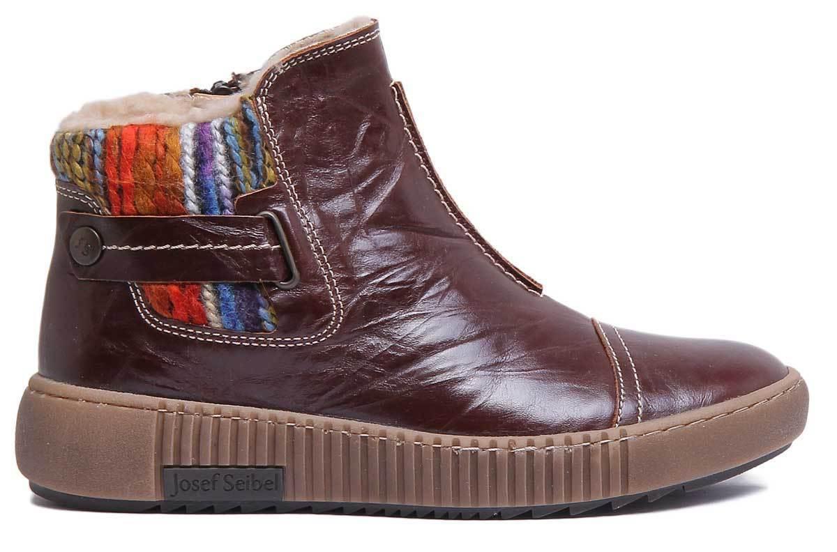 Josef Seibel Maren Maren Maren 07 damen Leather braun Multi Chelsea Stiefel Größe UK 3 - 8 d1115a