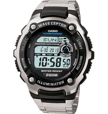 Casio Digital Atomic Waveceptor Watch, 200 Meter WR, World Time,   WV200DA-1AV