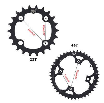 WUZEI Bike Crank 104BCD Round 30T Chainring Narrow Wide Circle Crankset Plate