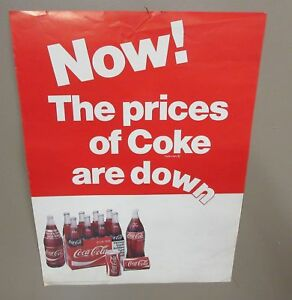 Vintage Coca-Cola Advertising Poster Now The Prices Of ...