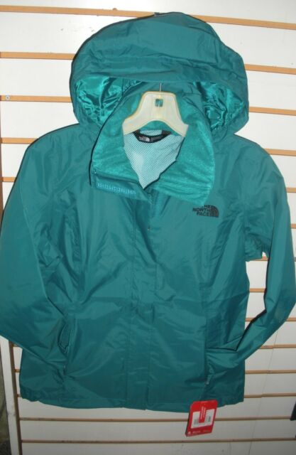 THE NORTH FACE WOMENS RESOLVE WATERPROOF JACKET -AQBJ- HARBOR BLUE- S,M,L,XL