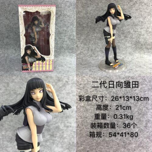 NARUTO Shippuden Gals Hinata Hyuga PVC Figure Toy New No Box 21cm