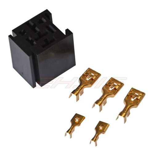 80A 12V Car Relay /&Socket 12//18 AWG Wire Vehicle Changeover SPDT Electromagnetic