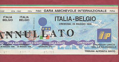 Ordentlich Orig.ticket 29.05.1996 In Cremona Italien - Belgien !! Sehr Selten Reinweiß Und LichtdurchläSsig