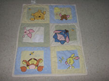 Winnie Pooh Crib Quilt White Tigger Roo Piglet Eeyore Rabbit Bee Dragonfly Patch