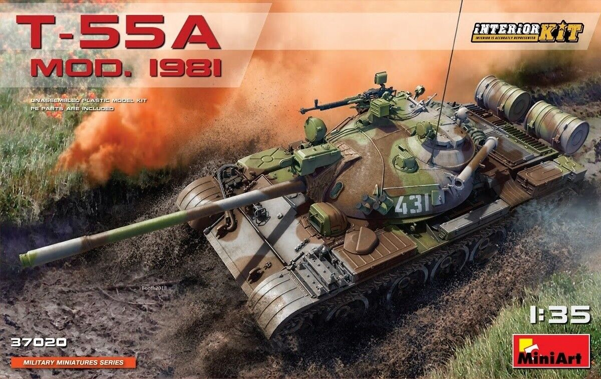 MiniArt 37020 1 35th Scale T-55A Late Mod.1981 with interior kit