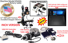 Sherline 8540a 12 Mill System Package A Cnc Controller Laptop Rotary