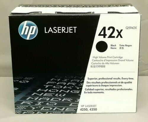 HP Q5942X 42X Black Toner Cartridge LaserJet 4350 Genuine New Open Box