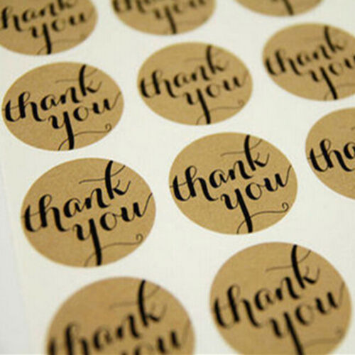 48Pcs THANK YOU Kraft Seal Sticker Label for Wedding Favor//Envelope//Card WC