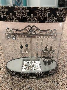 Pierced Earrings And Earring Tree