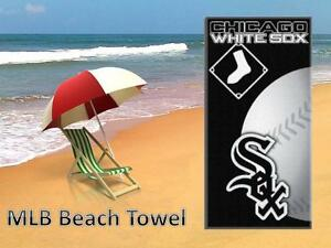 Chicago-White-Sox-Beach-Towel-MLB-Licensed-Team-Giant-Cover-Up-30-034-X60-034-Fan-Gear