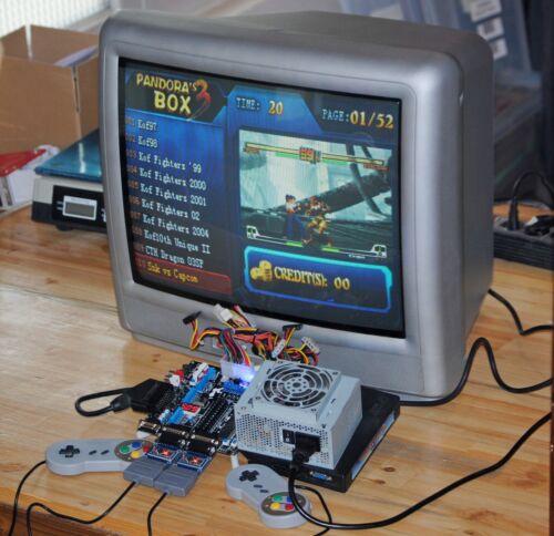 Pack Arcade Supergun ProGamer Retroelectronik + Alim + 2 adaptateurs SNES + pad