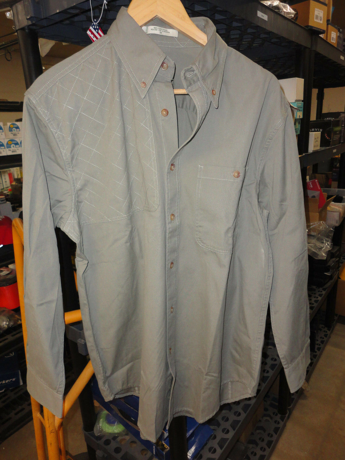 New Orvis Shooting Shirt  XL Light Olive