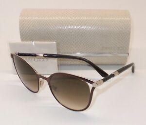 3130848eb15 JIMMY CHOO NEIZA S J6LJD Sunglasses Brown Rose Gold Brown Grad ITALY ...