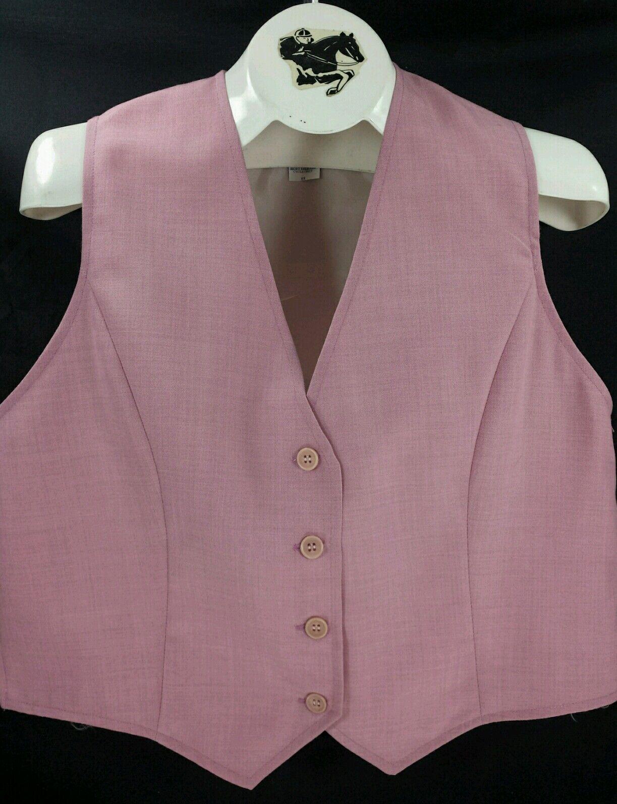 Reed Hill Ladies Saddleseat Vest PINK pink Polyester Blend - USA