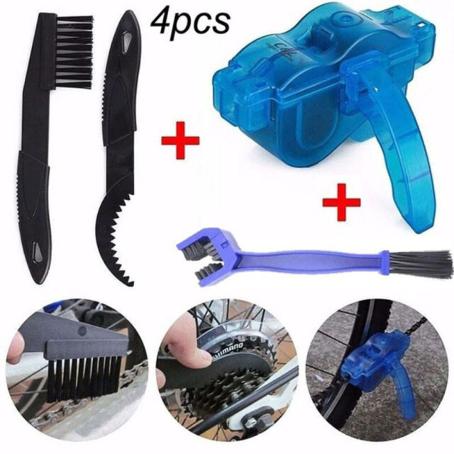 Cleaning Brushes Scrubber Cycling Bike Bicycle Chain Wheel Wash Cleaner Tool UK