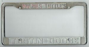 Tuttle Click Dodge >> Holmes Tuttle's Tustin Dodge Vintage California MOPAR Dealer License Plate Frame | eBay