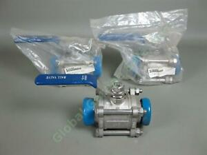 3-NEW-Sanitary-1-5-034-Ball-Valves-CF8M-Stainless-Steel-1000-WOG-NW-40-BV-150-NWB