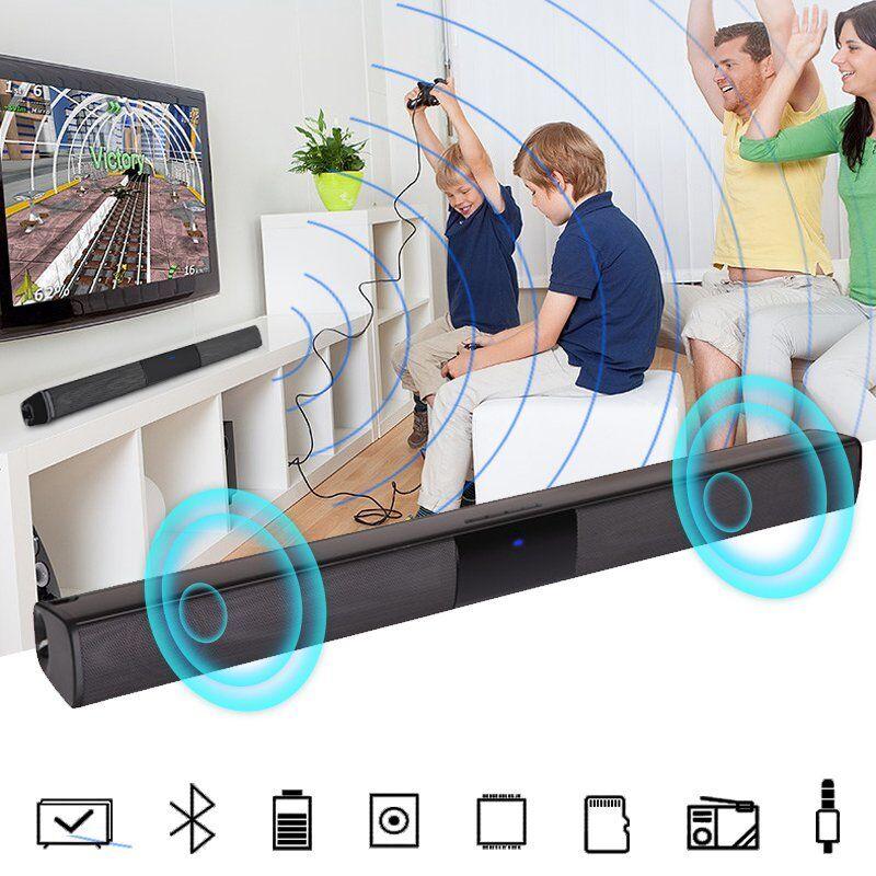 Home Theater TV Soundbar Bluetooth Sound Bar Speaker System w/Built-in Subwoofer bar bluetooth Featured home sound soundbar speaker subwoofer system theater