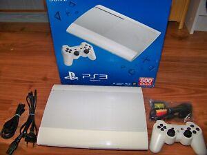 Playstation 3 Ps3 Slim In Weiss Ebay