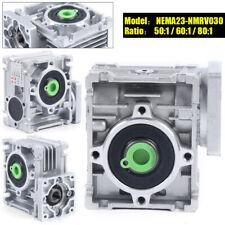 New Gearbox Worm Gear Reducer Nema030 80 1 Speed Ratio For Servostepper Motor