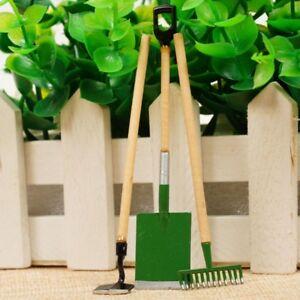 3Stk-1-12-Puppenhaus-Simulation-Modell-Gartengeraete-Outdoor-Garten-Toy-Set