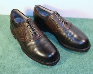 Men's 10 D M Footjoy Classics Tour Style 51635 Noir Cognac Chaussures de golf-afficher le titre d`origine 3FRFVkJR-07141253-929447323