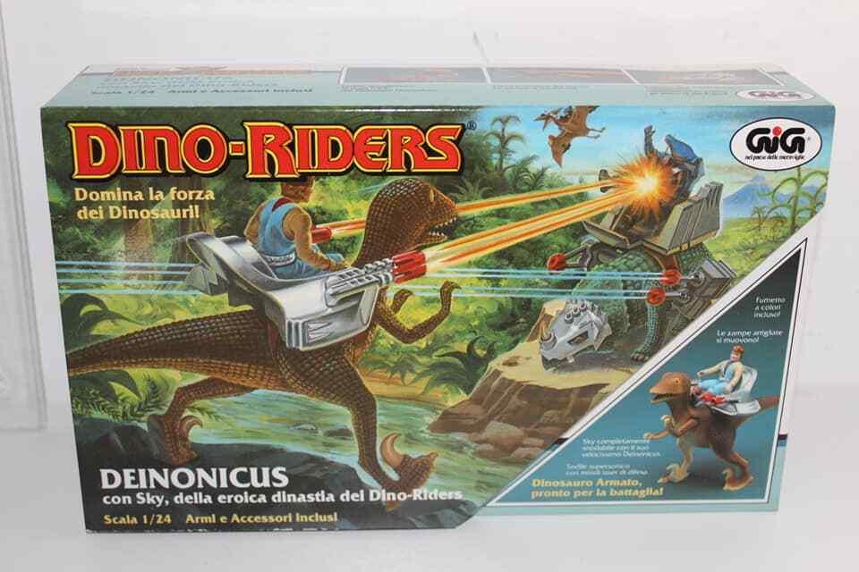 DINO RIDERS - DEINONICUS - GIG 1987 - FONDO DI MAGAZZINO VINTAGE TOY NUOVO MISB